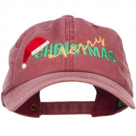 Merry Christmas Santa Hat Embroidered Unstructured Cap