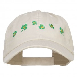 Six Shamrocks Embroidered Low Cap