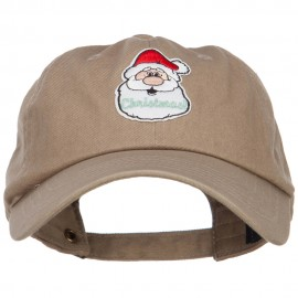 Christmas Santa Claus Patched Unstructured Cap