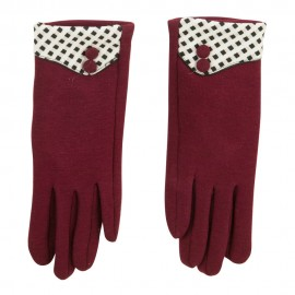 Women's Checkered Cuff Texting Glove