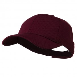Youth Athletic Jersey Mesh Cap - Maroon