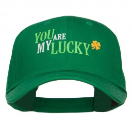 You Are My Lucky Embroidered Cotton Cap
