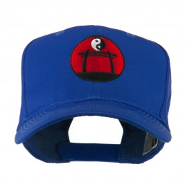 Martial Arts Logo Yin and Yang Embroidered Cap