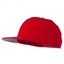 Youth Flat Bill Snapback Cap - Red
