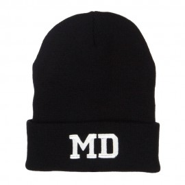 MD Maryland State Embroidered Long Beanie