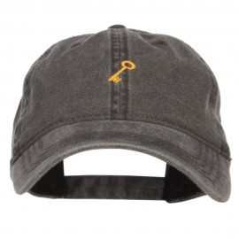 Mini Key Embroidered Washed Cap