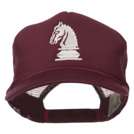 Youth Knight Chess Embroidered Mesh Cap