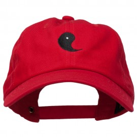 Yin Symbol Embroidered Washed Cap
