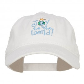 Joy to the World Embroidered Washed Cap
