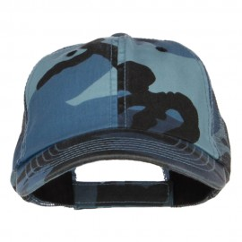 Enzyme Washed Camouflage Trucker Cap