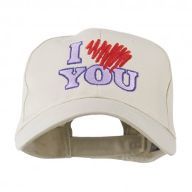 I Love You Logo Embroidered Cap - Stone