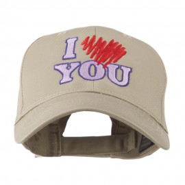 I Love You Logo Embroidered Cap - Khaki