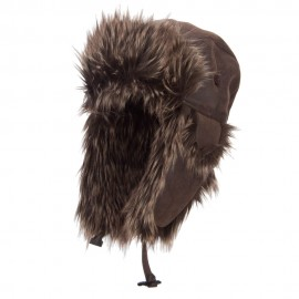 Faux Leather and Fur Trooper Hat