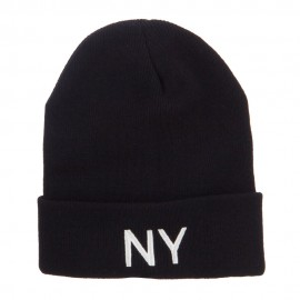 New York State NY Embroidered Cuff Beanie