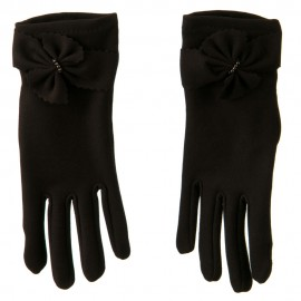 Women's Zig Zag Detail Tie with Bead Glove