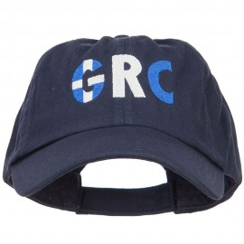 Greece GRC Flag Embroidered Low Profile Cap