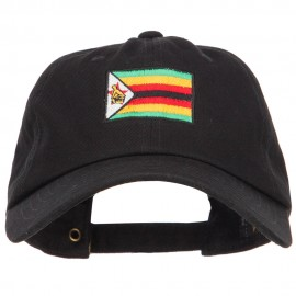 Zimbabwe Flag Embroidered Washed Cap