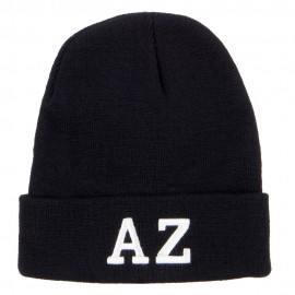 AZ Arizona State Embroidered Long Beanie
