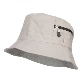 Zip Pocket Cotton Bucket Hat