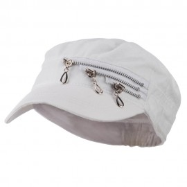 Three Layer Zippered Army Cap