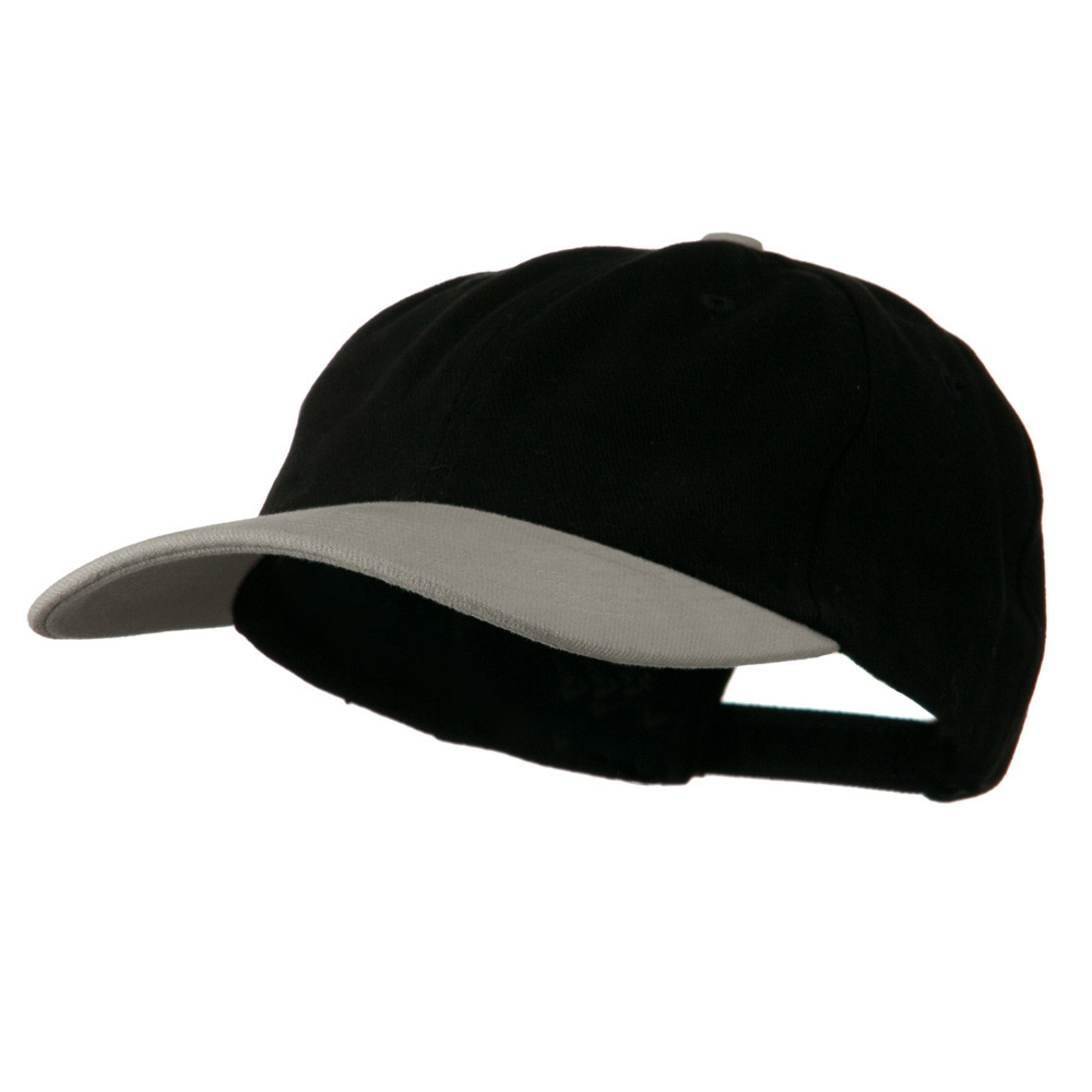 Deluxe Brushed Cotton Two Tone Cap - Black Grey - Hats and Caps Online Shop - Hip Head Gear