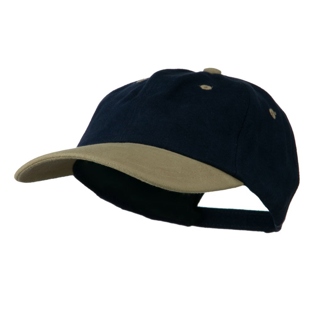 Deluxe Brushed Cotton Two Tone Cap - Navy Khaki - Hats and Caps Online Shop - Hip Head Gear