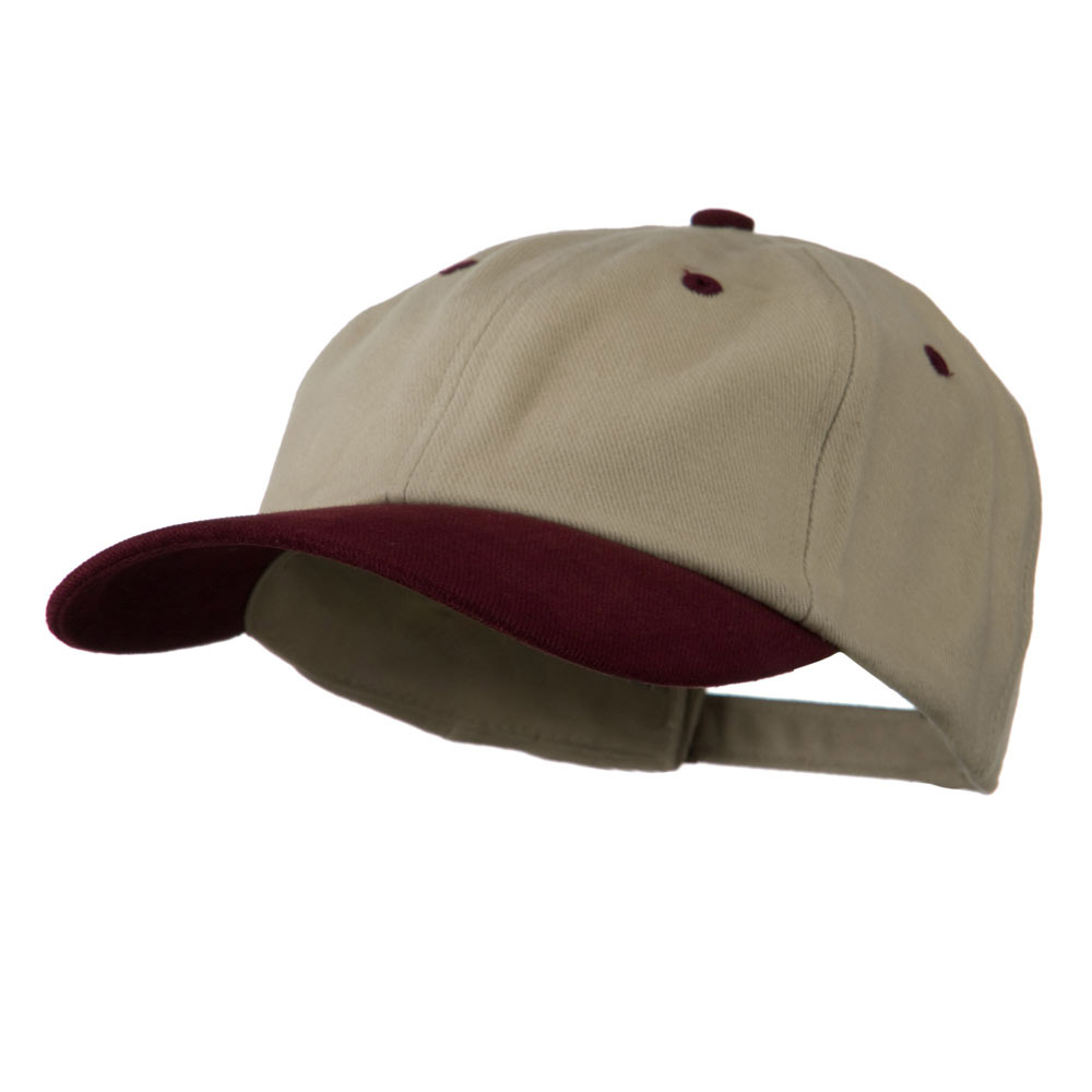Deluxe Brushed Cotton Two Tone Cap - Sand Maroon - Hats and Caps Online Shop - Hip Head Gear