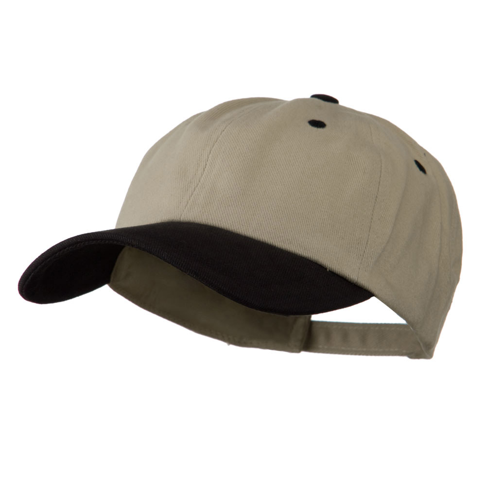 Deluxe Brushed Cotton Two Tone Cap - Sand Black - Hats and Caps Online Shop - Hip Head Gear