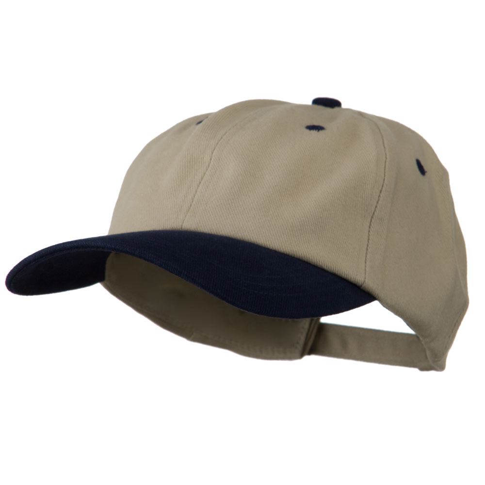 Deluxe Brushed Cotton Two Tone Cap - Sand Navy - Hats and Caps Online Shop - Hip Head Gear