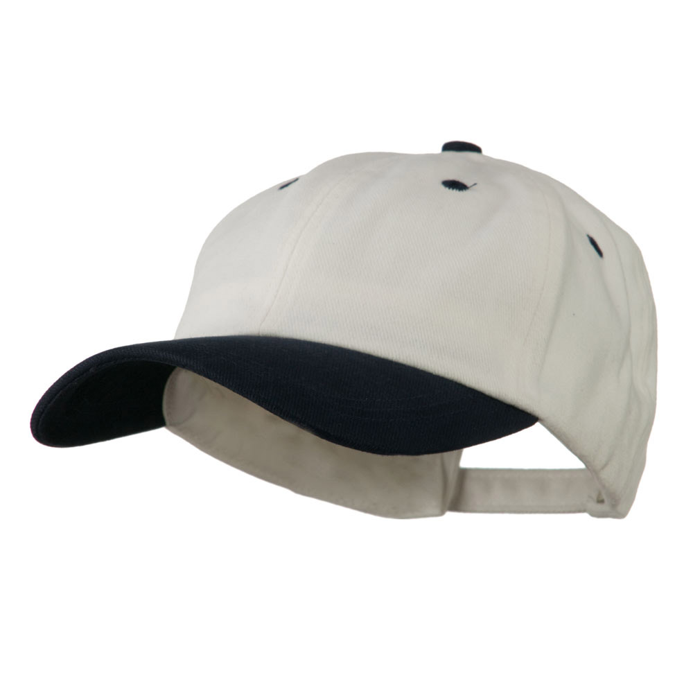 Deluxe Brushed Cotton Two Tone Cap - White Navy - Hats and Caps Online Shop - Hip Head Gear