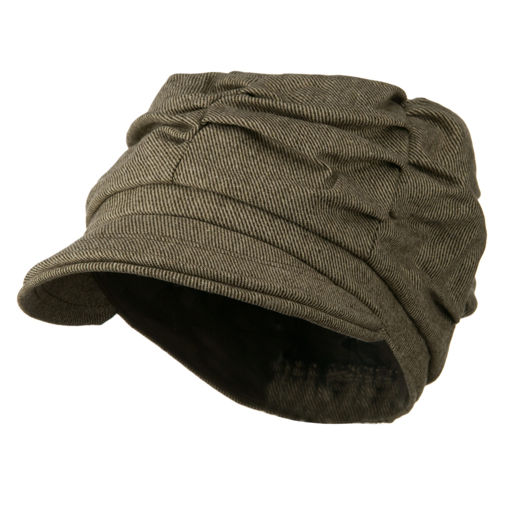 Jeanne Simmons Dangy Cotton Newsboy Hat - Brown W15S55A at Sears.com