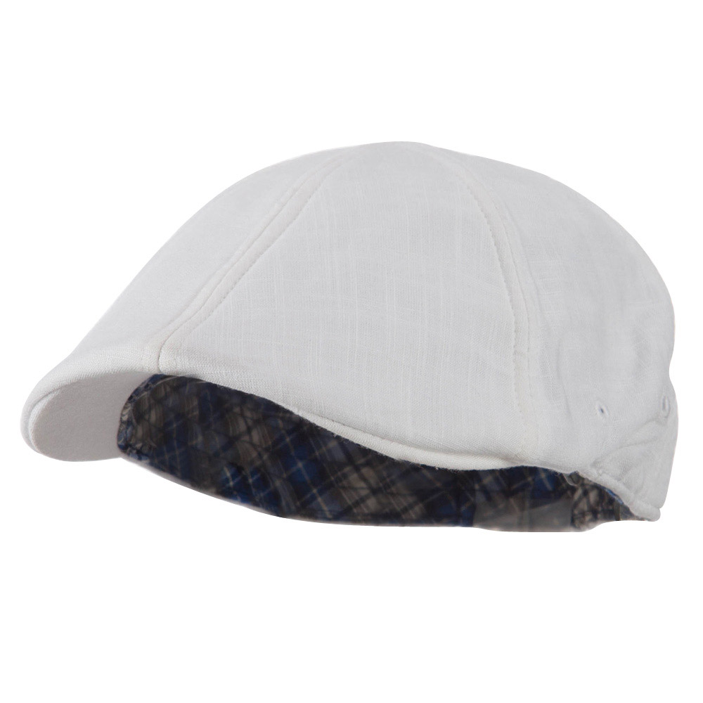 Plain Duck Bill Ivy Hat - White - Hats and Caps Online Shop - Hip Head Gear