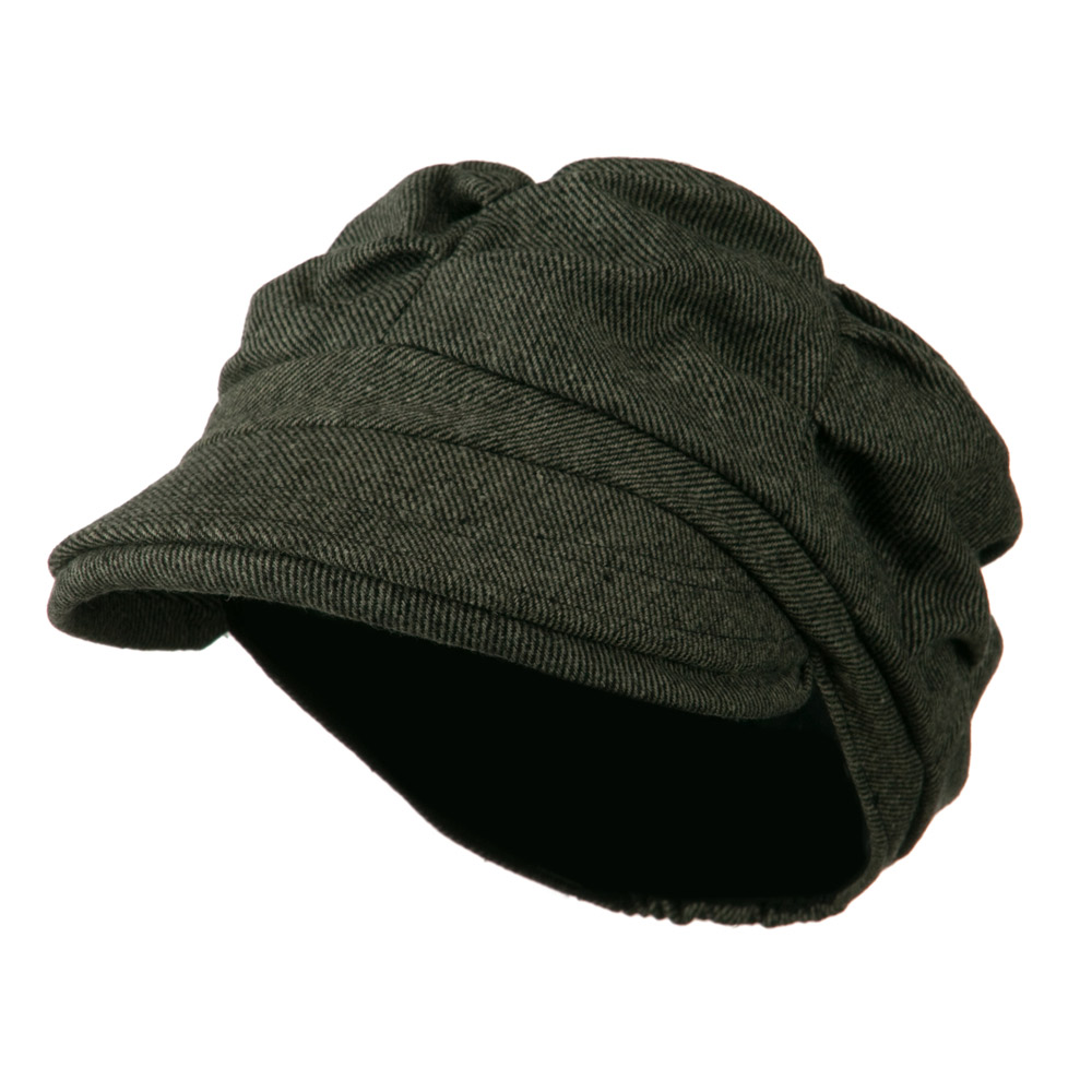 Dangy Cotton Newsboy Hat - Dark Grey - Hats and Caps Online Shop - Hip Head Gear