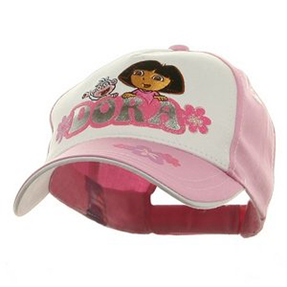 Dora Baseball Cap-White Pink - Hats and Caps Online Shop - Hip Head Gear