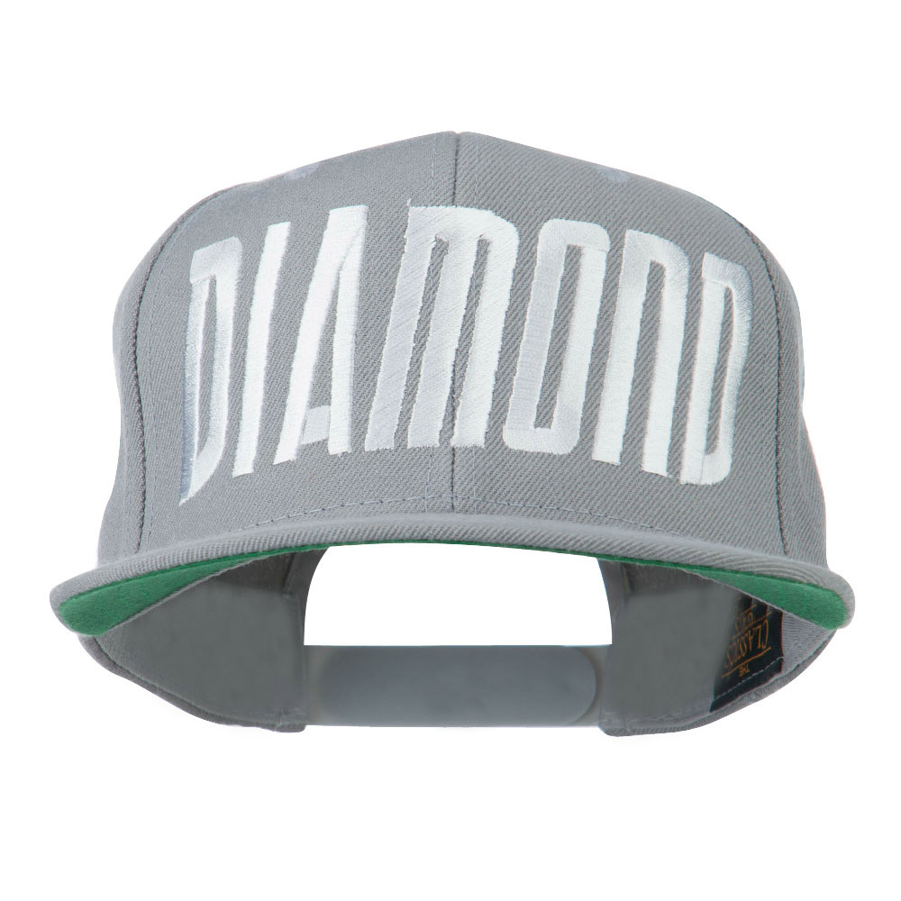 Diamond Embroidered 6 Panel Cap - Silver - Hats and Caps Online Shop - Hip Head Gear