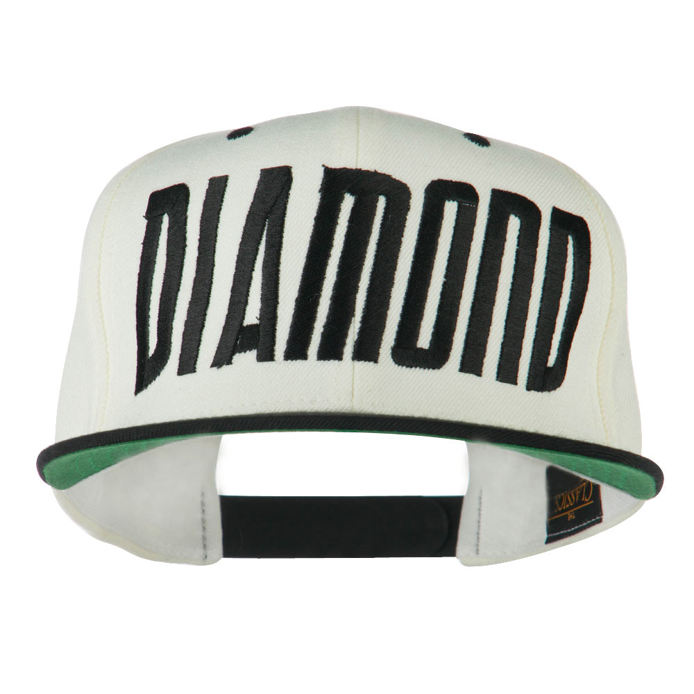 Diamond Embroidered 6 Panel Cap - Off White - Hats and Caps Online Shop - Hip Head Gear
