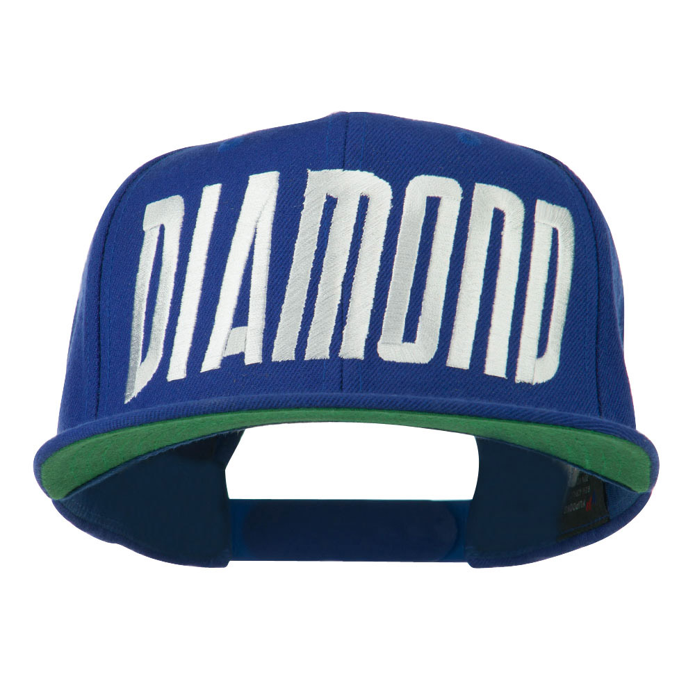 Diamond Embroidered 6 Panel Cap - Royal - Hats and Caps Online Shop - Hip Head Gear