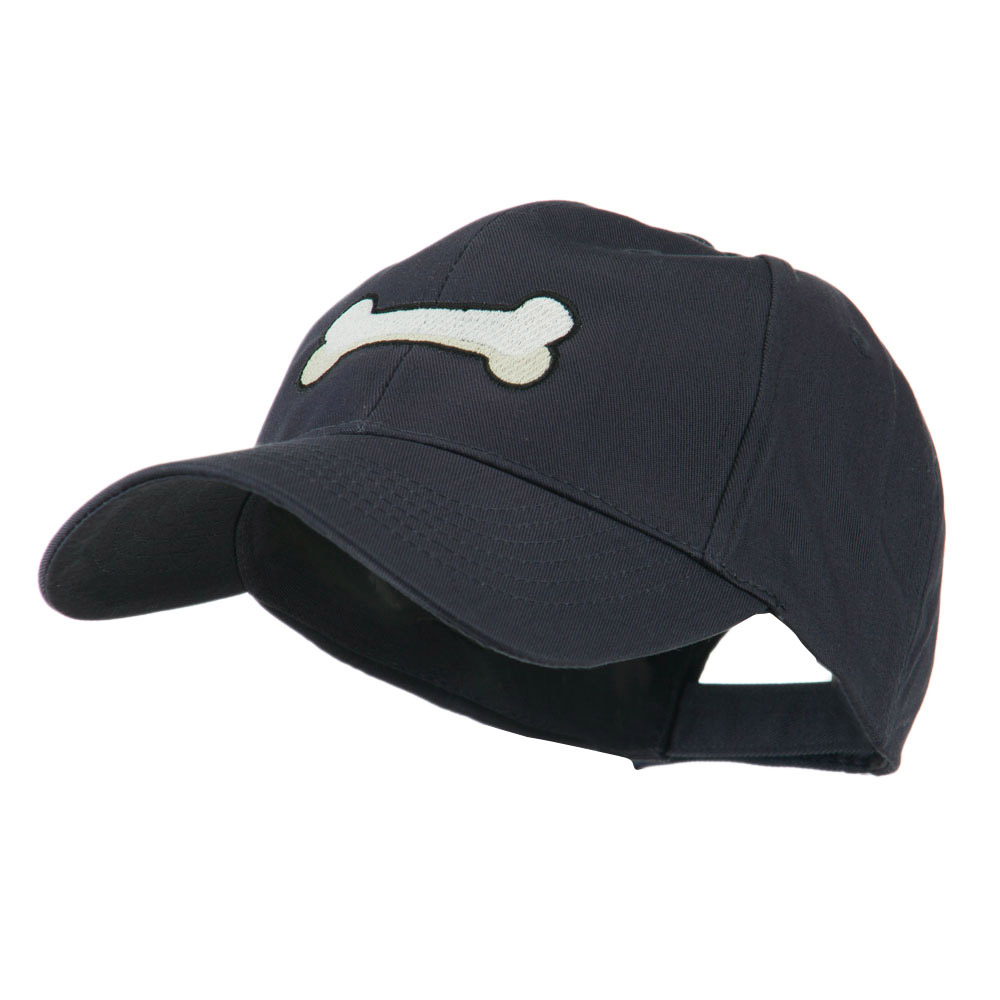 Dog Bone Shape Embroidered Cap - Navy - Hats and Caps Online Shop - Hip Head Gear
