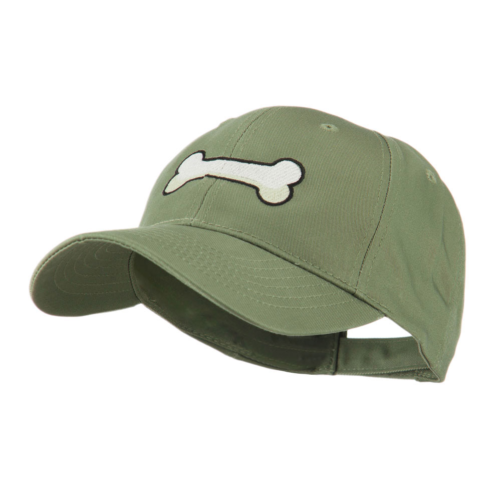 Dog Bone Shape Embroidered Cap - Olive - Hats and Caps Online Shop - Hip Head Gear
