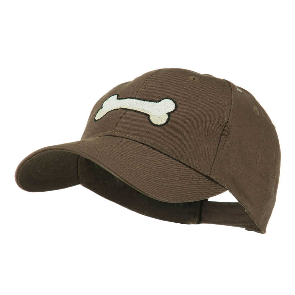 Dog Bone Shape Embroidered Cap - Brown - Hats and Caps Online Shop - Hip Head Gear