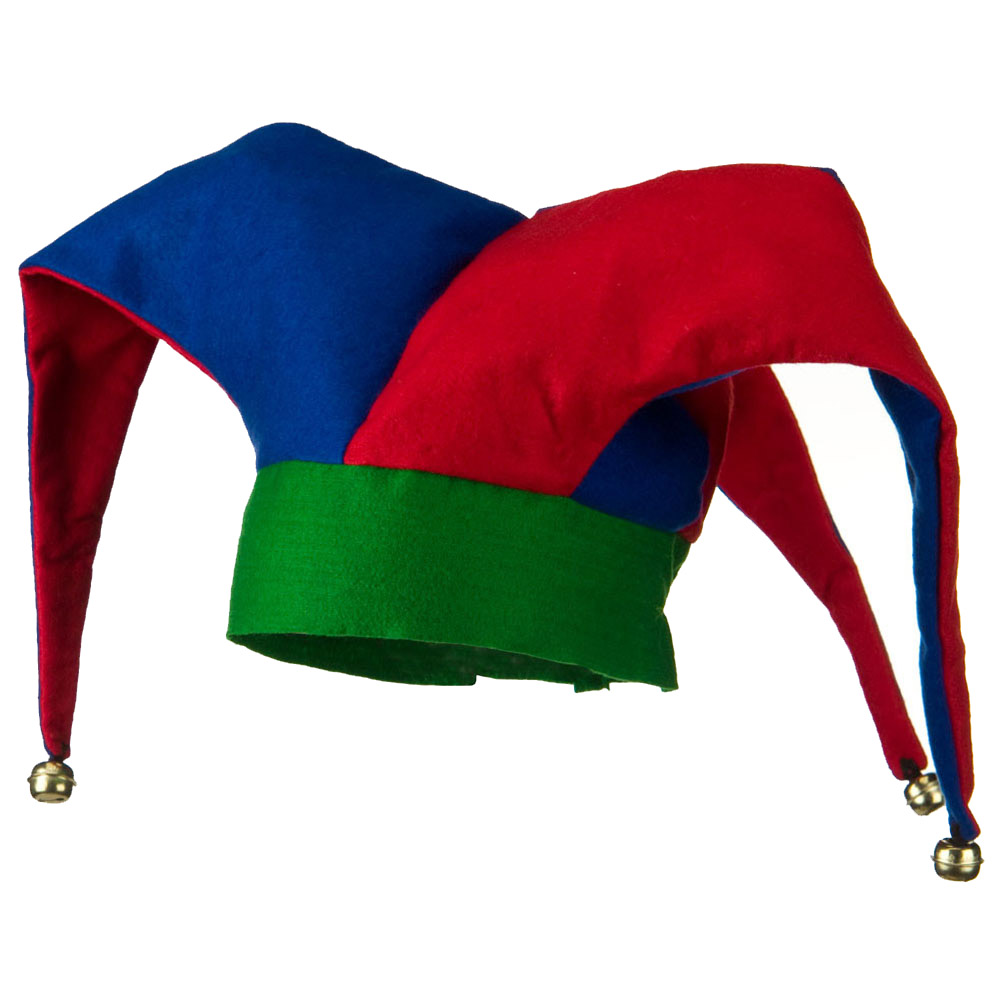 Deluxe Felt Jester Hat - Red Blue Green - Hats and Caps Online Shop - Hip Head Gear