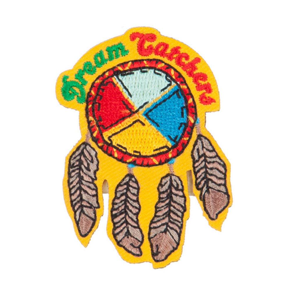 Dream Catchers Embroidered Patch - Yellow