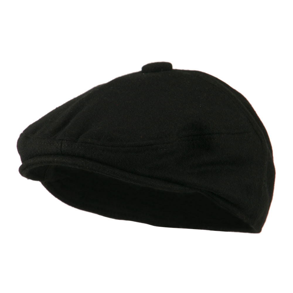 Wool Solid 5 Panel Driver Cap - Black - Hats and Caps Online Shop - Hip Head Gear