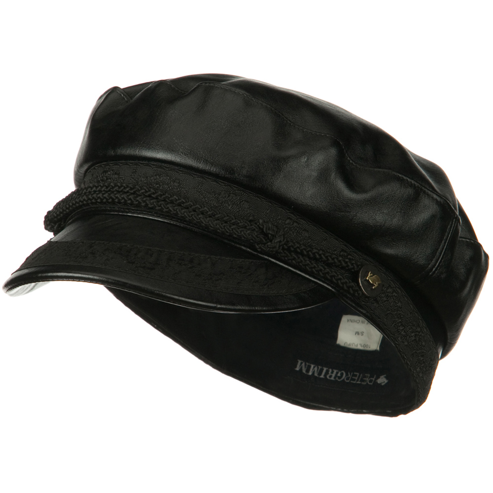 Donovan PU Captain Hat - Black - Hats and Caps Online Shop - Hip Head Gear