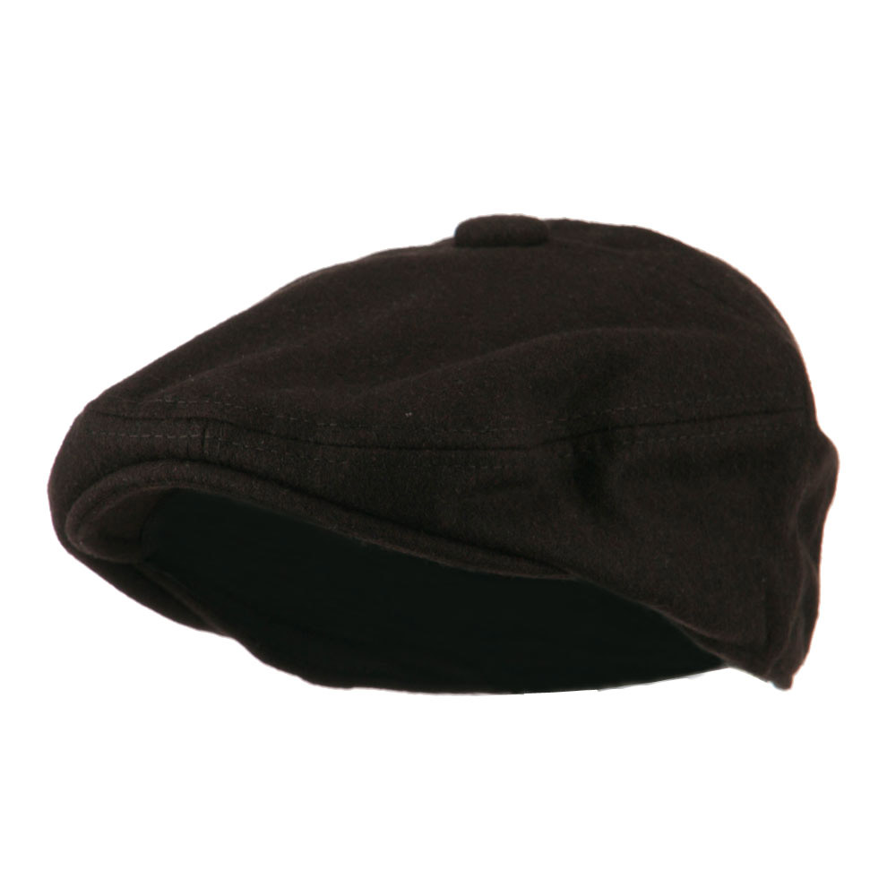 Wool Solid 5 Panel Driver Cap - Brown - Hats and Caps Online Shop - Hip Head Gear