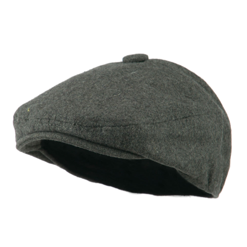 Wool Solid 5 Panel Driver Cap - Grey - Hats and Caps Online Shop - Hip Head Gear