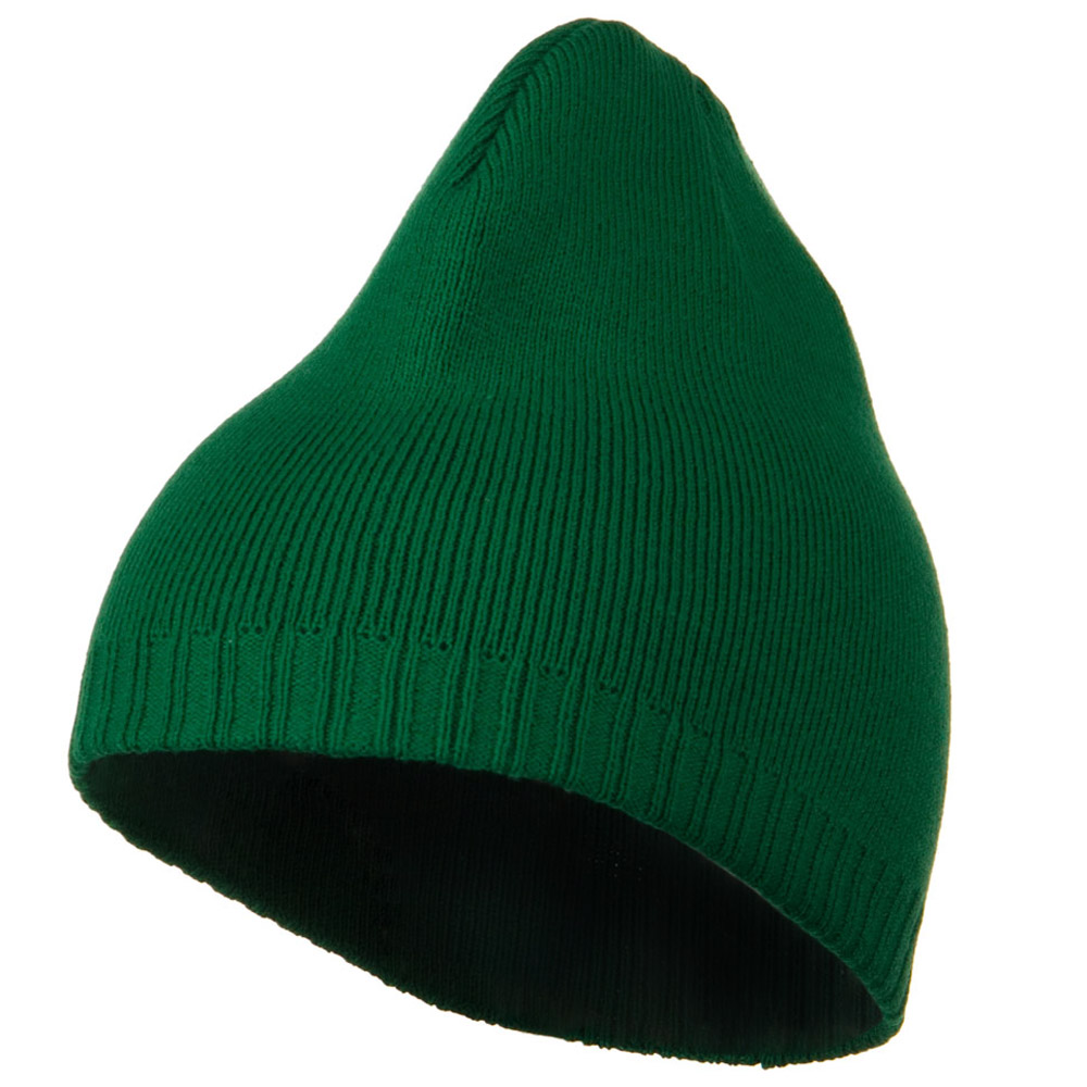 Decorative Ribbed Short Beanie - Kelly - Hats and Caps Online Shop - Hip Head Gear