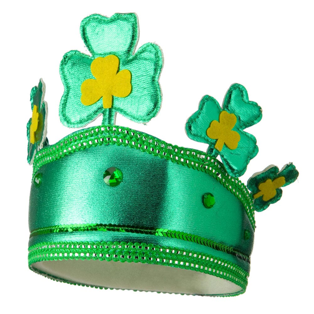 Deluxe Shamrock Crown Headband - Green