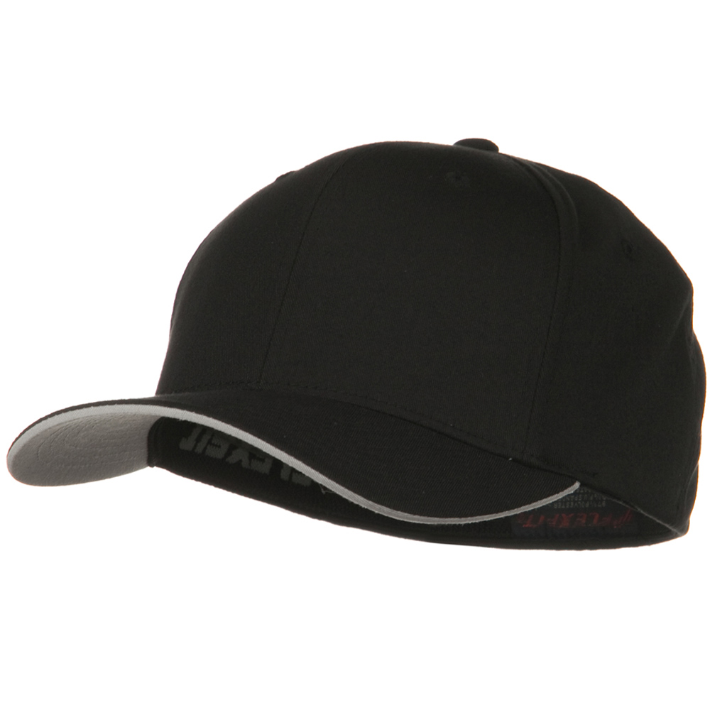 Flexfit Cool and Dry Transvisor Cap - Black Silver - Hats and Caps Online Shop - Hip Head Gear