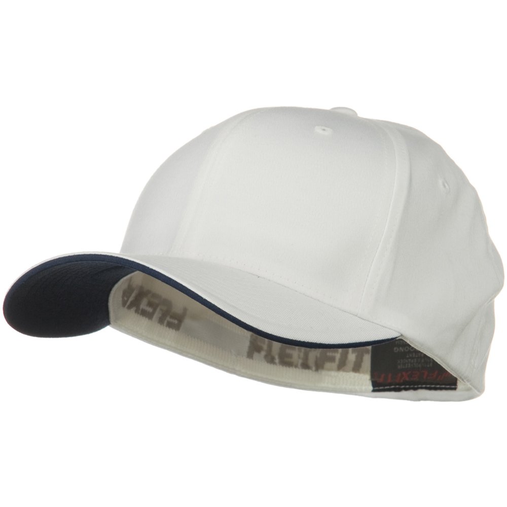 Flexfit Cool and Dry Transvisor Cap - White Navy - Hats and Caps Online Shop - Hip Head Gear